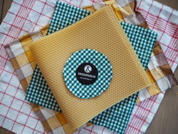 Stoffe und Bienenwachs für Wachstücher