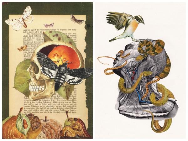Collage Papiergedanken Wiener Kunst