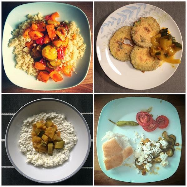 Chutney mit Feta, Cottage Cheese oder Couscous servieren