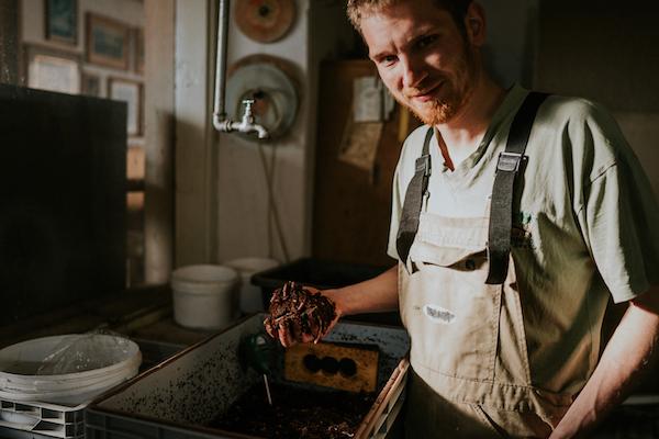 David Witzeneder und seine Kompostwürmer