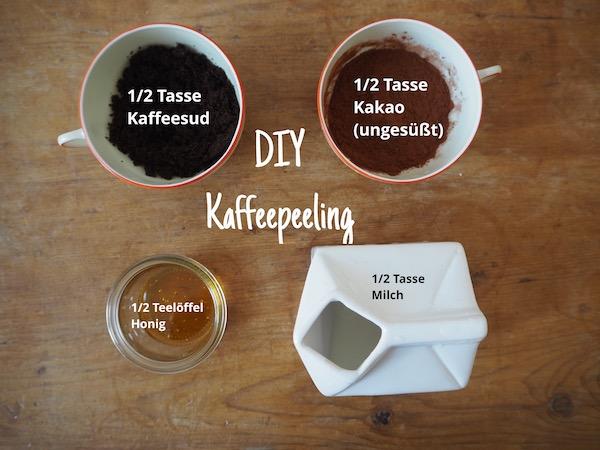 Anleitung für selbstgemachtes Kaffeepeeling