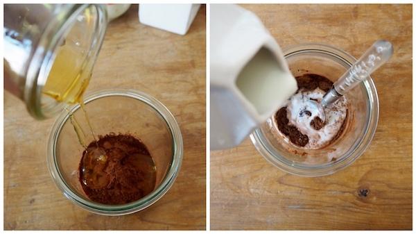 Kaffepeeling Herstellung mit Milch & Honig