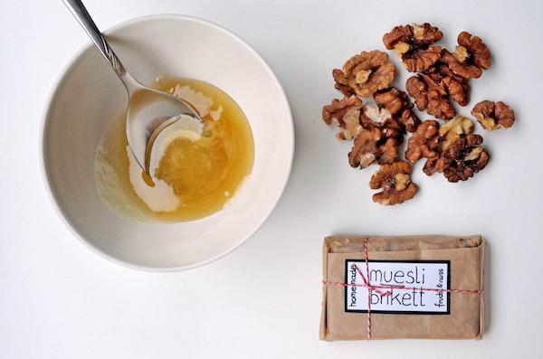 Mueslibrikett mit Honig & Nüssen