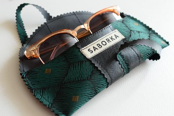 Saborka Brillen Etui Grün-Schwarz