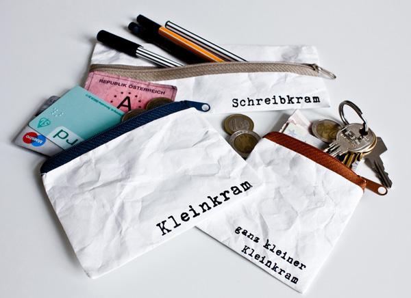 Schreibkram, Kleinkram & Ganz kleiner Kleinkram Tascherl