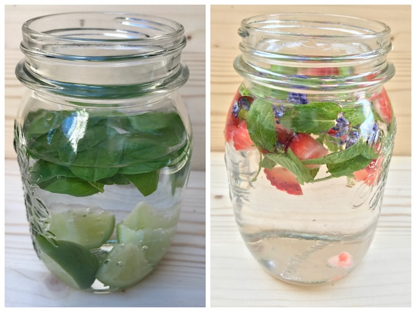 Infused Water - Wasser mit Geschmack mit Kräutern aus dem Garten