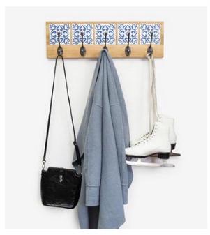 Garderobe mit Fliesen