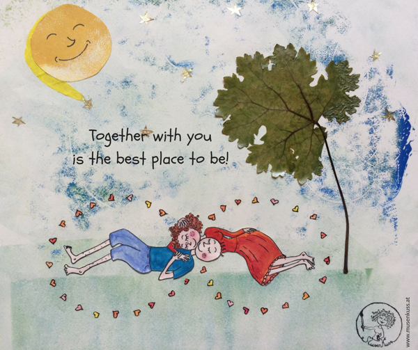 MusenKuss Illustration - Together with you is the best place to be!