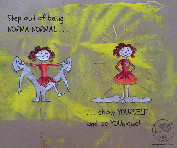 MusenKuss Illustration_Step out of being Norma Normal