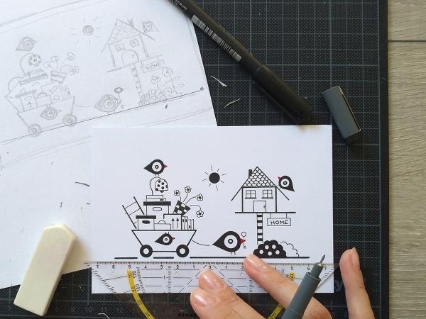 Entstehungsprozess der Illustrationen von Merula