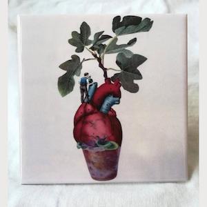 "Kunstkeramikfliese - ""Tree of Life"" von Papiergedanken"