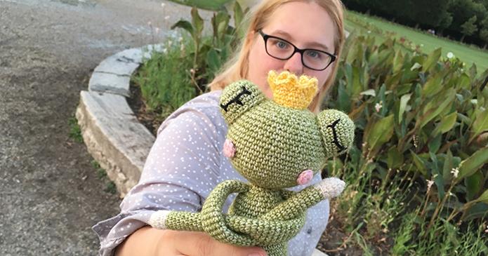 Eva von Polaripop mit ihrem Lieblings-NONO Ferdinand Frosch_1a