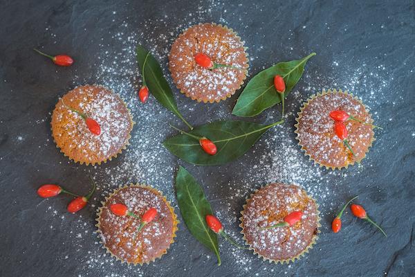 Cupcakes mit Gojibeeren