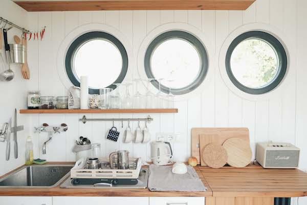Die Küche im Wohnwagon