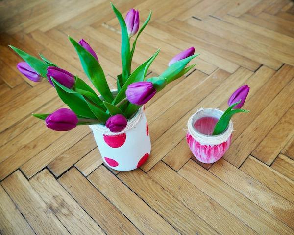 Selbstgmachte Blumenvasen