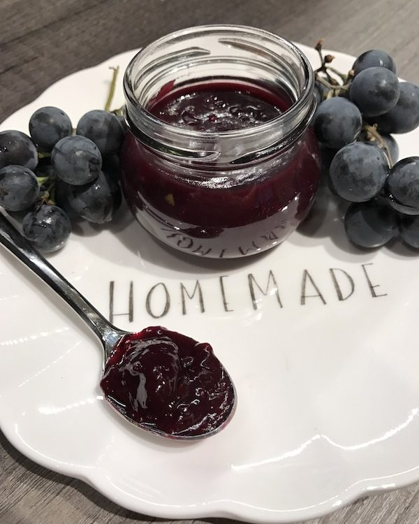Selbstgemachte Weintraubenmarmelade