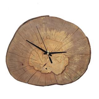 Huizbirn - Baumscheibenuhr aus Buchenholz