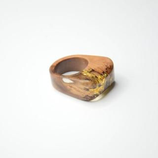 Koderholt - Holzring mit Blattgold