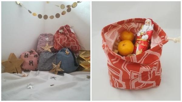 Stoffsäcke statt Geschenkpapier - Nachhaltig verpacken