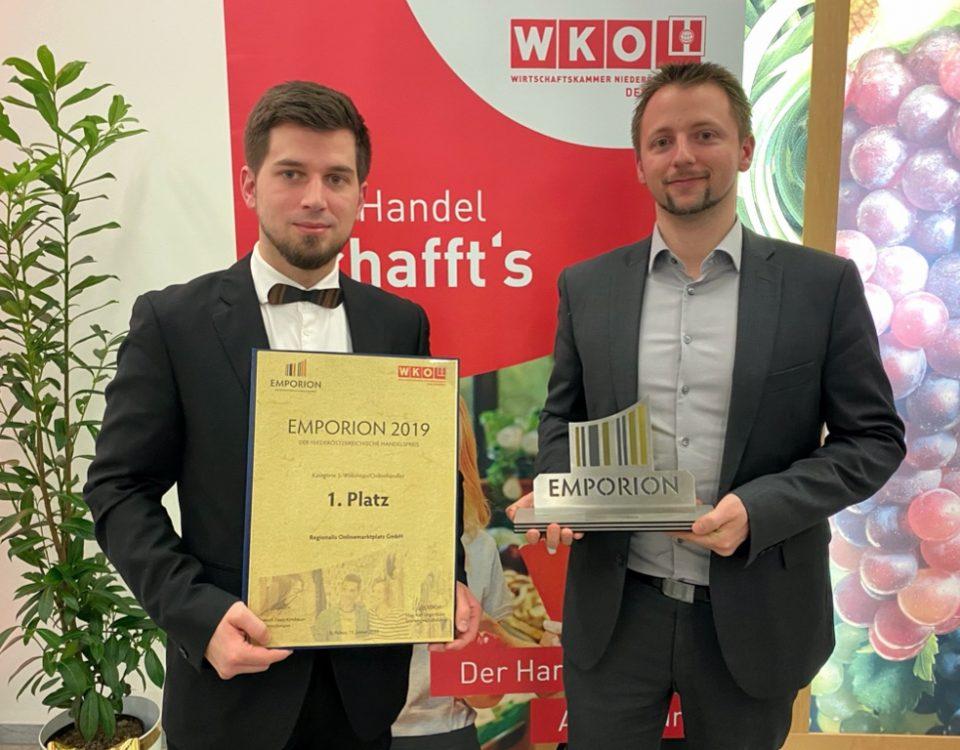 Regionalis - EMPORION Verleihung_Peter Patak und Roland Rzihauschek v.l.n.r.