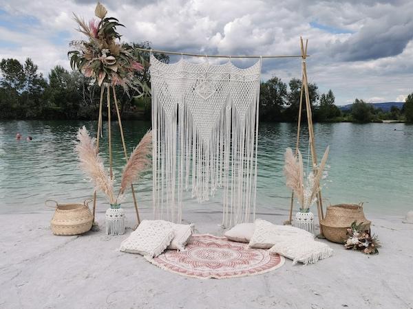Wedding Backdrop von Lieblingsknoten